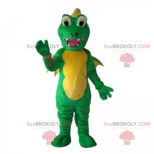 Dragon mascot with small wings - Redbrokoly.com