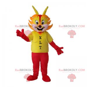 Dračí maskot se zapálí - Redbrokoly.com
