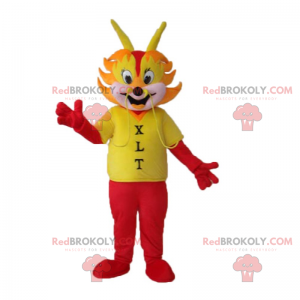 Dragon maskot ansikt antennes - Redbrokoly.com