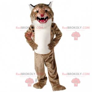 Small-eyed feline mascot - Redbrokoly.com