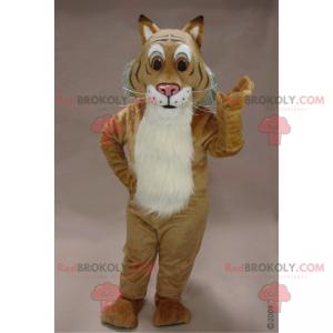 Kočičí maskot s velkýma hnědýma očima - Redbrokoly.com