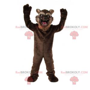 Kočičí maskot s otevřenými ústy - Redbrokoly.com
