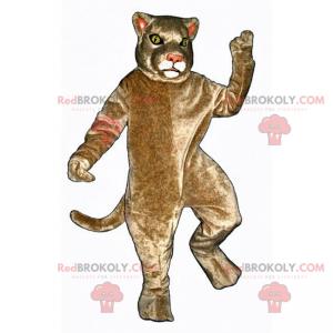 Béžová kočičí maskot - Redbrokoly.com