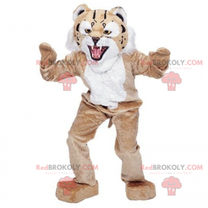 Beige and white feline mascot - Redbrokoly.com