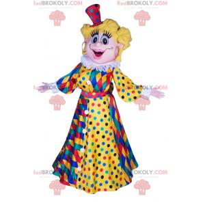 Mulher mascote com vestido arlequim - Redbrokoly.com