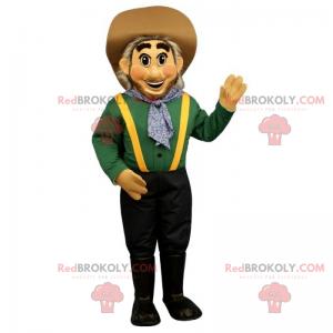 Farmer mascot with hat - Redbrokoly.com
