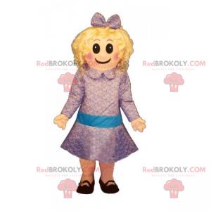 Malá dívka maskot v šatech - Redbrokoly.com