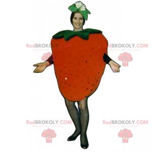 Jordbærmaskot med blomster - Redbrokoly.com