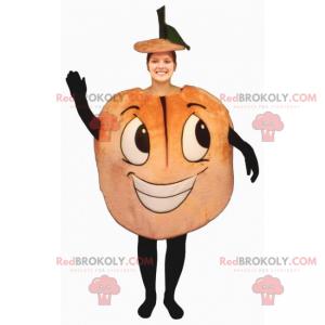 Fruchtmaskottchen - Lächelnder Pfirsich - Redbrokoly.com