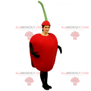 Fruit mascot - Red apple - Redbrokoly.com