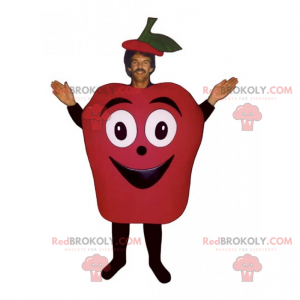 Fruchtmaskottchen - lächelnder roter Apfel - Redbrokoly.com