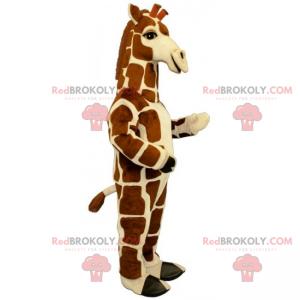 Giraffenmaskottchen mit quadratischen Flecken - Redbrokoly.com