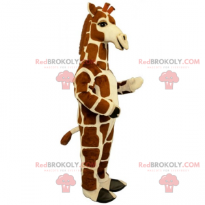 Mascotte giraffa con macchie quadrate - Redbrokoly.com