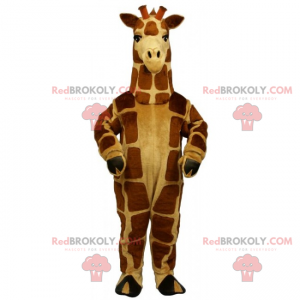 Mascotte giraffa marrone e beige - Redbrokoly.com