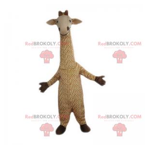 Mascote girafa sorridente - Redbrokoly.com