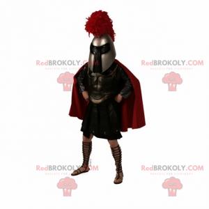 Mascota de gladiador con capa - Redbrokoly.com