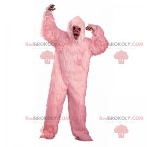 Maskot růžové gorily - Redbrokoly.com