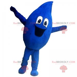 Usmívající se kapka vody maskot - Redbrokoly.com