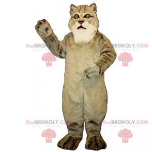 Velká šedá kočka maskot - Redbrokoly.com