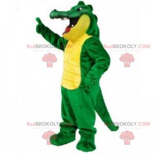 Large green and yellow crocodile mascot - Redbrokoly.com