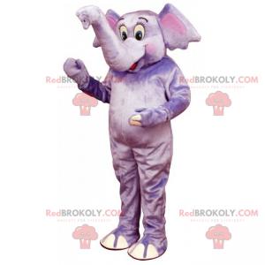 Big purple elephant mascot - Redbrokoly.com