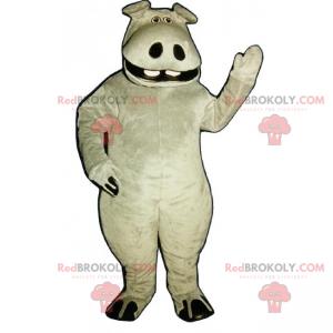 Grande mascote hipopótamo - Redbrokoly.com