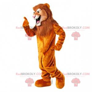 Großes Löwenmaskottchen mit langer Mähne - Redbrokoly.com
