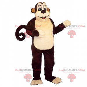 Great monkey mascot with a round tail - Redbrokoly.com