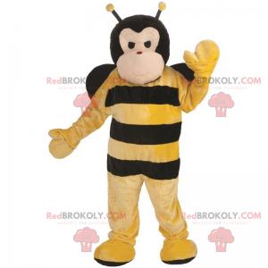 Maskotka duża pszczoła z czarnymi skrzydłami - Redbrokoly.com