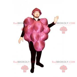 Bunch of red grapes mascot - Redbrokoly.com