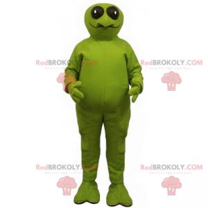 Maskot žába s velkýma kulatýma očima - Redbrokoly.com