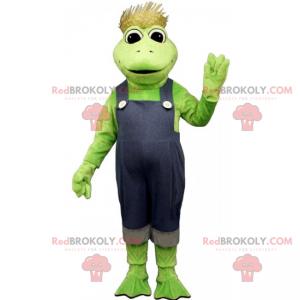 Frog mascot scarecrow outfit - Redbrokoly.com