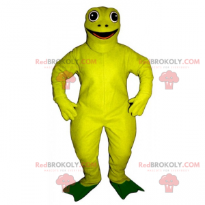 Maskot žlutá žába - Redbrokoly.com