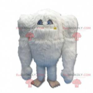 Stor hårete hvit yeti maskot - Redbrokoly.com