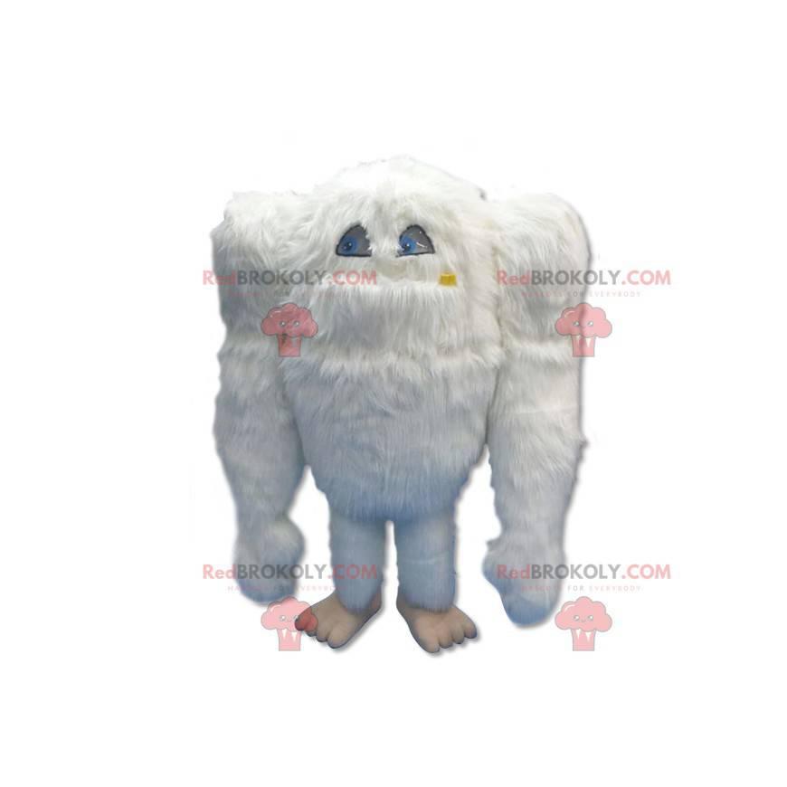 Big hairy white yeti mascot - Redbrokoly.com
