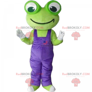Big eyed frogs mascot and overalls - Redbrokoly.com