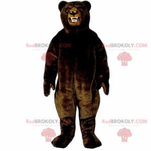 Black and angry grizzly mascot - Redbrokoly.com