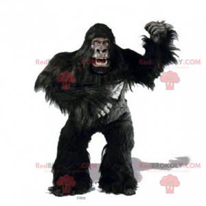 Gorila grande mascote com cabelos longos - Redbrokoly.com