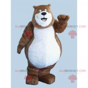 Velký usměvavý maskot medvídka - Redbrokoly.com