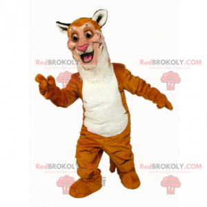 Two-tone cheetah mascot - Redbrokoly.com