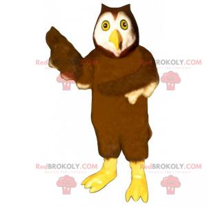 Owls mascot with yellow legs - Redbrokoly.com