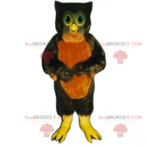 Ugle maskot med grønne øyne - Redbrokoly.com
