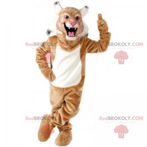 Hnědý jaguar maskot - Redbrokoly.com