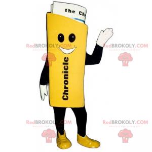 Usmívající se noviny maskot - Redbrokoly.com