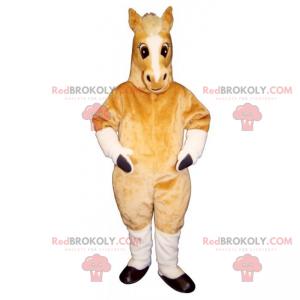 Béžový kobyla maskot - Redbrokoly.com