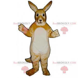 Hvid bugkænguru-maskot - Redbrokoly.com