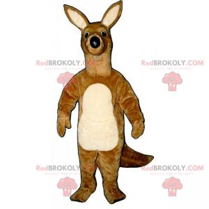 Kænguru-maskot med store ører - Redbrokoly.com