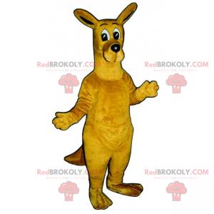 Känguru-Maskottchen mit großen Augen - Redbrokoly.com