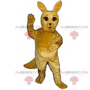Kænguru maskot med lange øjenvipper - Redbrokoly.com