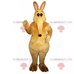 Mascote canguru com focinho grande - Redbrokoly.com